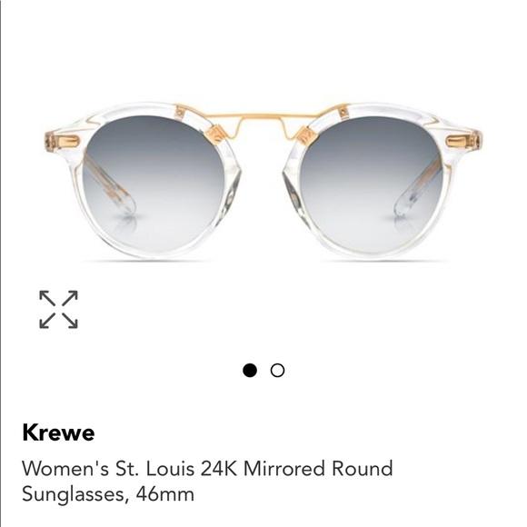 ebf0ae1cd9 Krewe Accessories - Krewe St. Louis 24k Mirror Round Sunglasses